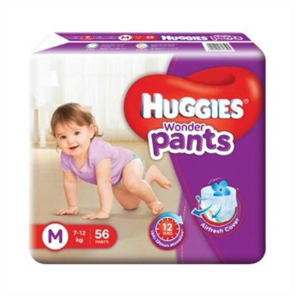 Huggies Baby Diaper WonderPants M 56Pcs