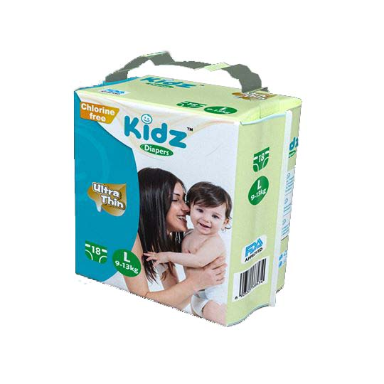 Kidz Diapers Large L (9-13 KG) -Belt Style -