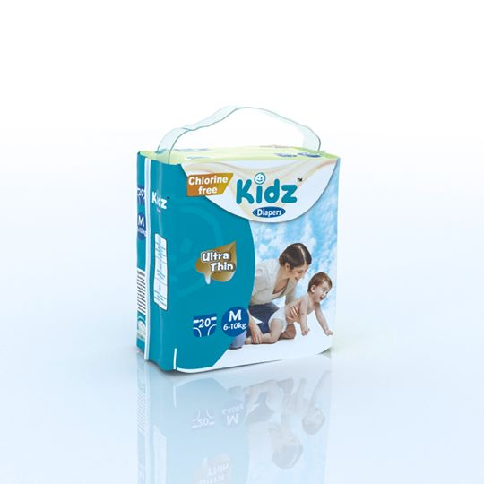 kidz Diapers M (6-10kg) 20pcs